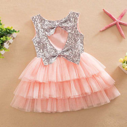 $enCountryForm.capitalKeyWord Canada - 2-7T Wholesale 2016 Girl's summer fashion sequins bowknot dress for children costumes kids princess girls tutu dresses