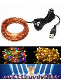 Wholesale 10m LED USB Outdoor Christmas Waterproof Fairy Lights Warm White and Multicolor LED String Lights Starry Light MYY