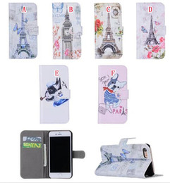 White pocket dog online shopping - Paris Eiffel Tower Wallet Leather Case For Iphone I7 Plus Iphone7 Luxury Big Ben Flower Butterfly Dog Cartoon Stand Pouch Card Cover