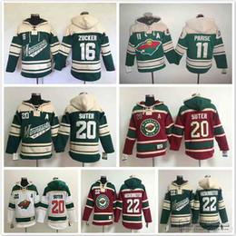 983d5789a ... Old Time Hockey Red Home Lace Heavyweight Hoodie Minnesota Wild hoodies  16 Jason Zucker 22 Cal Clutterbuck 20 Ryan Suter Ice Hockey Hoody  Sweatshirts ...