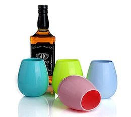 Chinese  Silicone Wine Glass Recyclable Drinking High Quality Candy Color Resistance To Fall Gargle Cups Hot Sale 4 8hy J R manufacturers