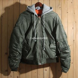 cca1c0b536 2016 Winter Vetements Thick Green Ma1 Jacket Hiphop Women Men Cotton-padded Oversized  Jackets Coat Unisex Winter Clothes