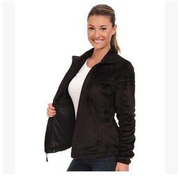 Warm Womens Jackets Canada - 2017 New Winter Womens Fleece Osito Jackets Fashion Soft Fleece Warm Slim Coats Outdoor Ladies Brand Mens Kids bomber Jacket Women Down Coat