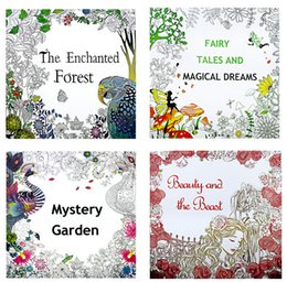24 Pages Beauty And The Beast English Coloring Book For Children Adult Relieve Stress Kill Time Graffiti Painting Drawing
