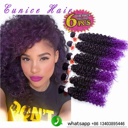 hair braiding accessories Australia - Jerry Curl Hair Extension Ombre Malaysian Afro kinky Curly Hair Freetress Croceht Braids 6cs lot Curly Hair Extension Machine Synthetic Weft