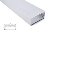 led strip light factory Canada - 50 X 1M sets lot factory wholesaler led strip aluminium profile and wide square alu extrusion for suspension light