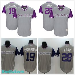b65cb5dd801 ... Mens Colorado Rockies 19 Charlie Blackmon Chuck Nazty 28 Nolan Arenado  Nado Gray 2017 Little League ...