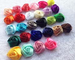 $enCountryForm.capitalKeyWord Canada - Vintage rose buds ribbon flower Baby cloth art manual headdress flower Camellia DIY hair accessories 1591