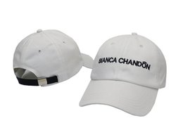 Hip Hop Hats For Women NZ - Baseball caps Hip Hop Ball Caps Hats for Men Women Fashion BLANCA CHANDON letter caps Snapback caps hot sale 6 panel cap hat free shipping