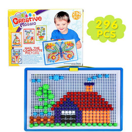 $enCountryForm.capitalKeyWord Canada - 296pcs Puzzles Toys for Children Composite Picture Puzzle Creative Mosaic Mushroom Nail Kit Educational Genius Button Art Baby Toy