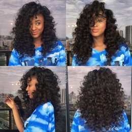 Brazilian Hair Glueless Lace Front Wigs Canada - 7A Full Lace Human Hair Wigs For Black Women Brazilian Curly Human Hair Lace Front Wigs Glueless Full Lace Wigs With Baby Hair