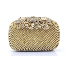 phone hoops Canada - 2017 Hot item Both Side Diamond Flower Crystal Evening Bag Clutch Bags Upscale Styling Day Clutches Lady Wedding Purse