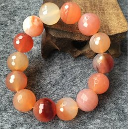 $enCountryForm.capitalKeyWord Canada - Natural agate bracelet lady on couple chalcedony jewelry of a circle hand hand string beads