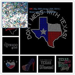 Wholesale texas irons for sale - Group buy 2pcs Don t Mess With Texas Girl With High Heeled Iron On Rhinestone Transfer Hot Fix Motif Hotfix Applique I Love Texas