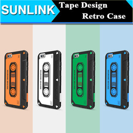 Musique De Coquille De Téléphone Pas Cher-Nillkin MUSIC EAR Phone Case Retro Vintage Tape Cassette Shield Hard Back Cover 3D Patchwork Shell pour Apple iPhone 6 6s Plus Retail Package