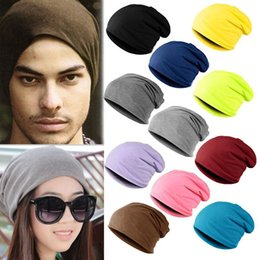Hip Hop Hats For Women NZ - Spring Men Women Knitted Winter Cap Chapeu Casual Beanies For Men Solid Hip -Hop Slouch Skullies Bonnet Unisex Cap Hat Gorro 2017