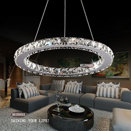 Led crystal steel chandeliers circle canada best selling led crystal ring led chandelier crystal lamp light lighting fixture modern led circle light d300mm aloadofball Choice Image