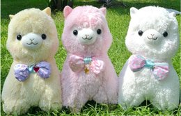 New Sitting Cute Soft Alpacasso Stuffed Plush Fabric AlpacaCamelid Horse AnimalDollToy For Girls Child Birthday Gift