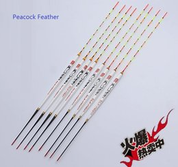 Gear For Fishing Australia - Wholesale- Sensitive Peacock feather float for Taiwan fishing natural material buoy tools