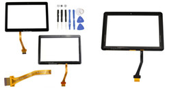 Screen Panel Replacement Parts Canada - Touch Screen for Samsung Galaxy Tab 2 10.1 P5100 P5110 N8000 P7500 Front Outer Glass Panel Glass Digitizer + Adhesive Replacement Parts