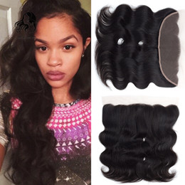 swiss hair products NZ - JUFA Hair Products 13x4 Peruvian Remy Hair Body wave Lace Frontal Closure Swiss Lace Natural Color Free Middle Three Part Free shipping