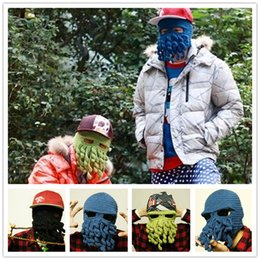 83864d20ab0 Novelty Handmade Knitting Beanies Wool Beard Octopus Hats Winter Hats  Crochet Funny Beanies Ski Face Mask Knitted Hat Christmas Gift B0870