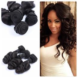 Cheap human hair dhl online shopping - 100 Human Hair Weave Weft Unprocessed G EASY Cheap Mongolian Loose Wave Hair Bundles DHL FREE