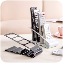 Discount tv control holders - 2017 hot sale Practical Wrinkled 4 Section TV DVD VCR Mobile Phone Remote Control Stand Holder Storage Organiser
