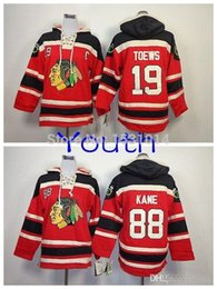 kinderzeiten großhandel-2016 New Jugend Großhandel Chicago Blackhawks Old Time Hockey Hoodie Kinder Janathan Toews Patrick Kane Heavyweight Stepped Hood