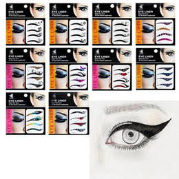 Ensemble D'oeil Pas Cher-Eye tatouages ​​Smoky Eyeliner autocollant tatouage tatouage temporaire autocollant temporaire étanche maquillage 4 paire / ensemble