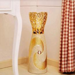 elegant decoration large floor vase fashion modern elegant luxury gold vase