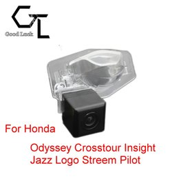 honda rear view backup camera Canada - For Honda Odyssey Crosstour Insight Jazz Logo Streem Pilot Wireless Car Auto Reverse Backup CCD HD Rear View Camera Parking Assistance