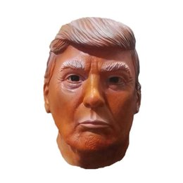 Costumes Donald Pas Cher-Donald Trump Celebrity Latex Masque Idéal pour les Parties Halloween MAGA Pin Inclus Taille Gratuit Halloween Halloween Party Costume