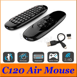 $enCountryForm.capitalKeyWord Canada - C120 Fly Air Mouse Mini Wireless QWERTY Keyboard Remote Control Game Controller For Android TV Set Top Box Mini PC 6 Gyroscope Q3 Free