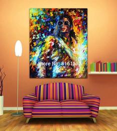 $enCountryForm.capitalKeyWord Canada - Framed Michael Jackson Jazz Music Soul Play Figure,High Quality Handpainted Modern Pop Wall Art Oil Painting on Canvas Multi sizes 173