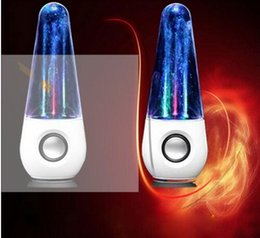 Iphone Center Canada - Hot new LED Dancing Water Music Fountain Light Speakers Creative Music Player dual speakers for PC Laptop iPhone iPad4 iPod