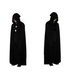 Barato Robe Assistente Halloween-Halloween Xmas Bronzing Grim Reaper capes 2017 Adult Sorcerer Wizard Cosplay Costume Witch Grim Reaper Cosplay Costume Robe Capes
