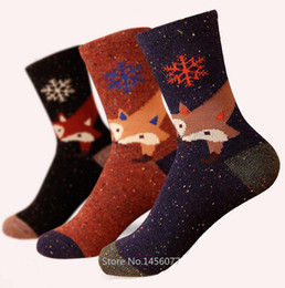 eecd5824b Wholesale-Wholesale Women's Wool Cotton blend ankle socks Creative socks  Snowflake FOX SOCKS Korea brand Classic elite socks