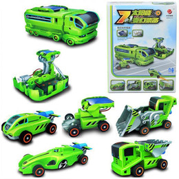 2017 rechargeable toy cars for kids 7 in 1 rechargeable innovative diy solar robot