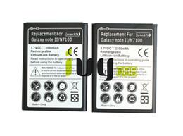 Notes Ii UK - 2pcs lot 3500mAh EB595675LU Replacement Battery For Samsung Galaxy Note II 2 N7100 N7000 N7102 t-mobile T889 Sprint L900 Verizon i605
