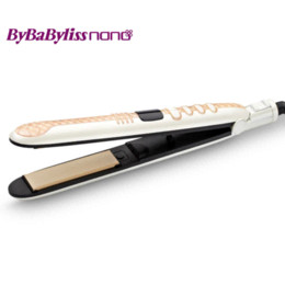 Uses Ceramics Canada - High Quality Electric Professional Salon Use Hair Straightener Flat Iron 220-240V Ceramic with Tourmaline Plate FISHKIM
