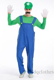 $enCountryForm.capitalKeyWord NZ - New Arrival Halloween Theme Costumes Plumbers Overalls Mens Mario Cosplay Theme Costumes Halloween Role Playing Costume