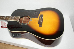 vintage electric guitars NZ - special popular Acoustic electric guitar free shipping vintage sunburst color rosewood fretboard
