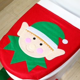 Christmas Decoration Supplies Santa Toilet Seat Cover Paper Towel Set Rug Bathroom 20