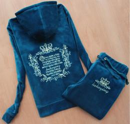 $enCountryForm.capitalKeyWord Canada - Plus Size S-XXXL Spring autumn Women Tracksuits Crowne Pattern Embroidery Velvet Sport Suit Women's Clothing moleton feminino Hoodies+pants