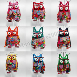 Wholesale Kids Shoulder Bag Canada - New Kids Bag Backpack Fashion Owl Style Baby Kids School Bags China's National Characteristics Kids Shoulders Bag YC8107