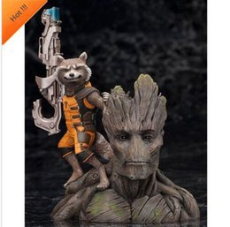 """Guardians Galaxy Figures NZ - HOT 6"""" Guardians of The Galaxy Vol. 2 Baby Groot Rocket Raccoon PVC Figure Toys Christmas Gift For Kids with box 08#"""