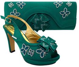 $enCountryForm.capitalKeyWord Canada - Elegant green african shoes match bag set with rhinestones lady bowtie shoes and handbag MM1031,heel 11.5CM