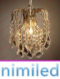 vintage study lamp 2019 - nimi763 Dia 30cm 40cm American Country Vintage Crystal Chandelier Bedroom Lights Living Room European Aisle Restaurant P