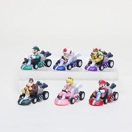 Chinese  Super Mario Bros. Kart PULL BACK Car Figures 6pcs set Free shipping manufacturers